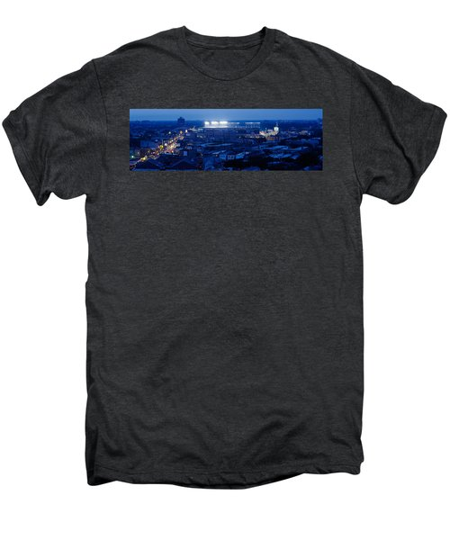 Aerial View Of A City, Wrigley Field Men's Premium T-Shirt by Panoramic Images