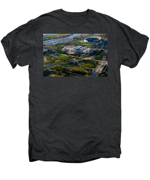 Aerial View Of The Field Museum Men's Premium T-Shirt by Panoramic Images