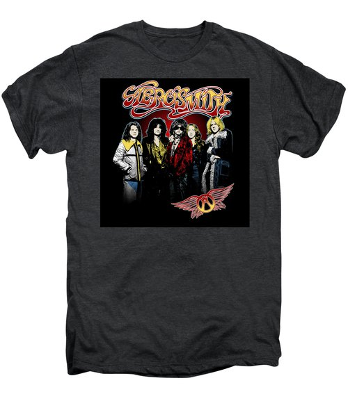 Aerosmith - 1970s Bad Boys Men's Premium T-Shirt by Epic Rights
