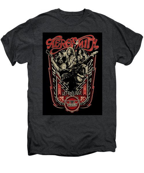 Aerosmith - Let Rock Rule World Tour Men's Premium T-Shirt by Epic Rights