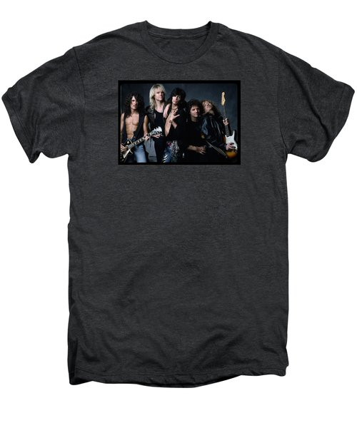 Aerosmith - Let The Music Do The Talking 1980s Men's Premium T-Shirt by Epic Rights