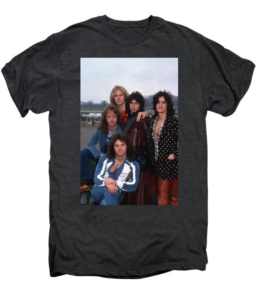 Aerosmith - Terre Haute 1977 Men's Premium T-Shirt by Epic Rights