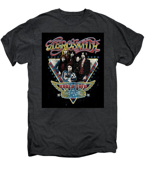 Aerosmith - World Tour 1977 Men's Premium T-Shirt by Epic Rights