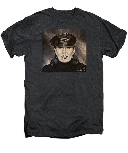 Anjelica Huston Men's Premium T-Shirt by Paul Meijering
