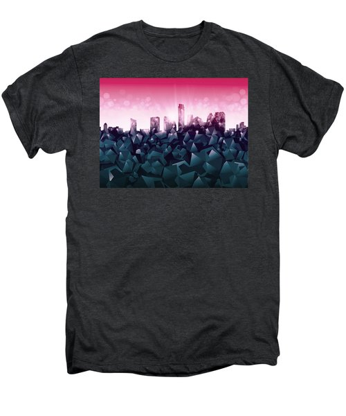 Austin Skyline Geometry 2 Men's Premium T-Shirt by Bekim Art