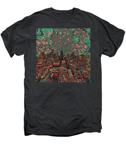 Austin Texas Vintage Panorama 3 Men's Premium T-Shirt by Bekim Art