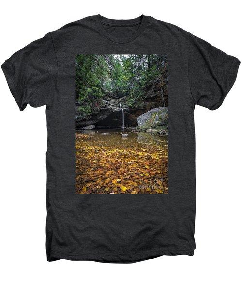 Autumn Falls Men's Premium T-Shirt by James Dean