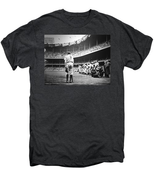 Babe Ruth Poster Men's Premium T-Shirt by Gianfranco Weiss
