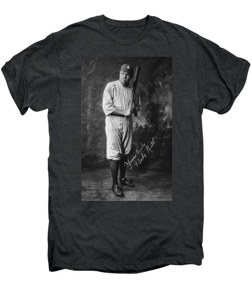 Babe 'the Sultan Of Swat' Ruth  1920 Men's Premium T-Shirt by Daniel Hagerman