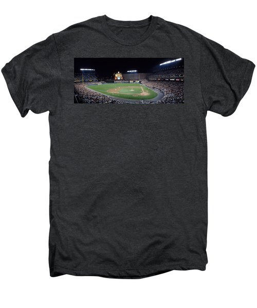 Baseball Game Camden Yards Baltimore Md Men's Premium T-Shirt by Panoramic Images