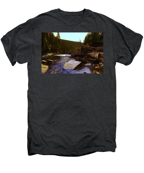 Beautiful Yak River Montana Men's Premium T-Shirt by Jeff Swan