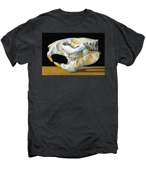 Beaver Skull 1 Men's Premium T-Shirt by Catherine Twomey
