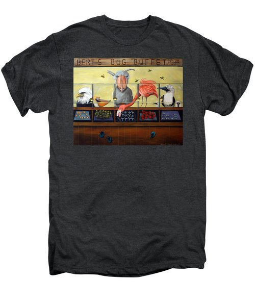 Bert's Bug Buffet Men's Premium T-Shirt by Leah Saulnier The Painting Maniac