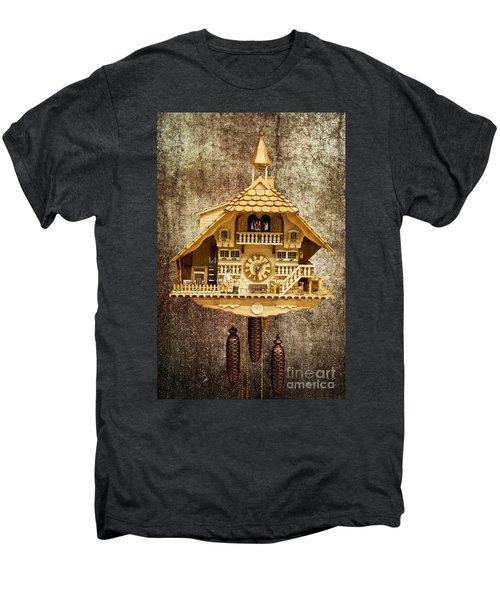 Black Forest Figurine Clock Men's Premium T-Shirt by Heiko Koehrer-Wagner