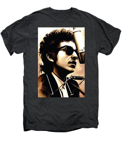 Bob Dylan Artwork 3 Men's Premium T-Shirt by Sheraz A