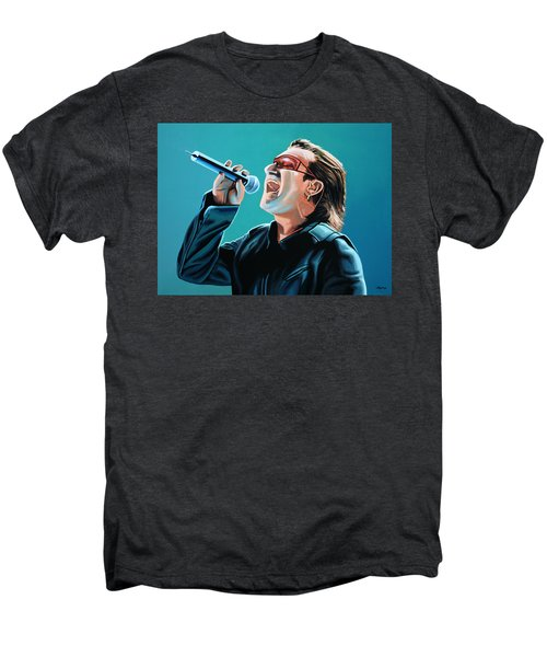 Bono Of U2 Painting Men's Premium T-Shirt by Paul Meijering