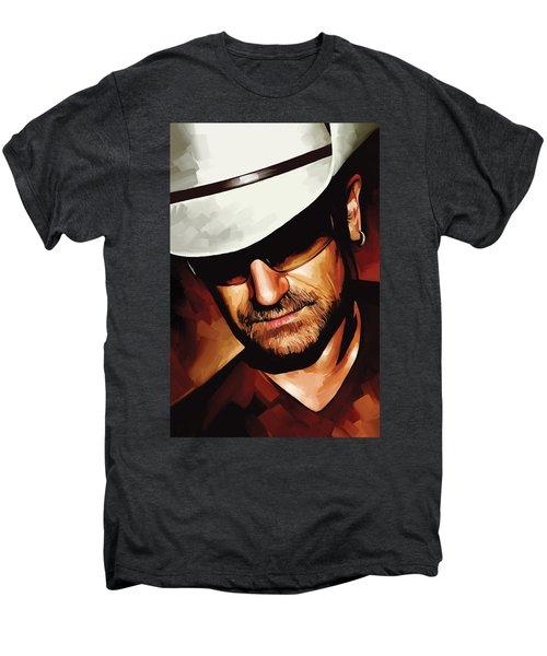 Bono U2 Artwork 3 Men's Premium T-Shirt by Sheraz A