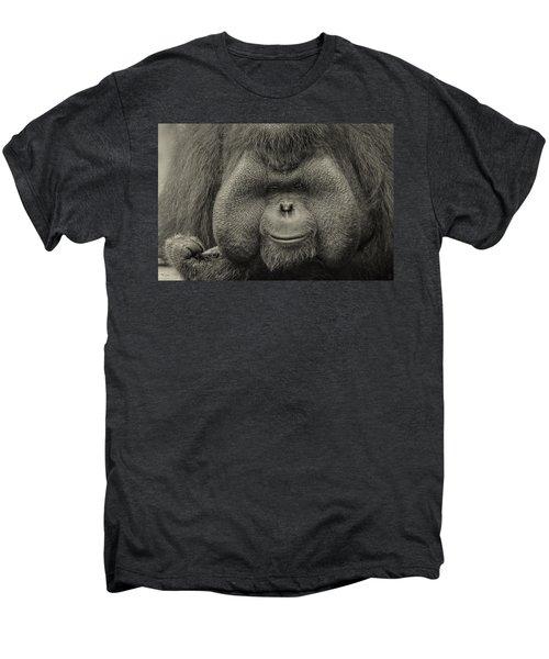 Bornean Orangutan II Men's Premium T-Shirt by Lourry Legarde