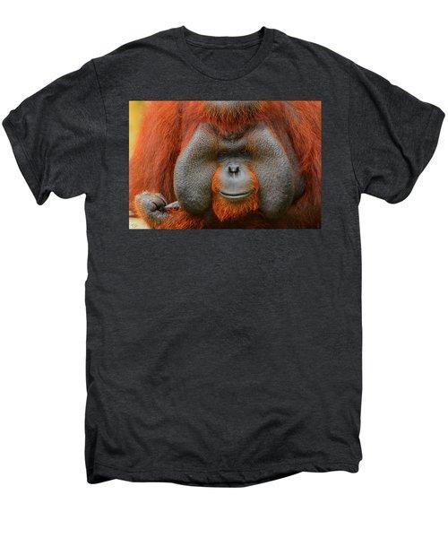 Bornean Orangutan Men's Premium T-Shirt by Lourry Legarde