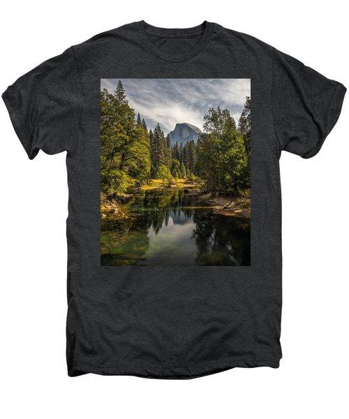 Bridge View Half Dome Men's Premium T-Shirt by Peter Tellone