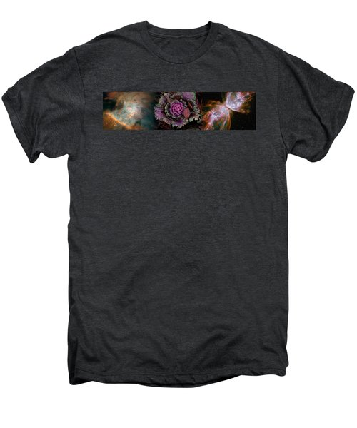 Cabbage With Butterfly Nebula Men's Premium T-Shirt by Panoramic Images