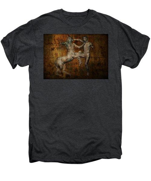 Centaur Vs Lapith Warrior Men's Premium T-Shirt by Daniel Hagerman