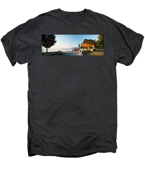 Chicago Lakefront Panorama Men's Premium T-Shirt by Steve Gadomski