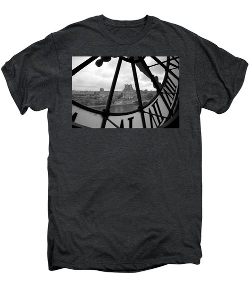 Clock At Musee D'orsay Men's Premium T-Shirt by Chevy Fleet