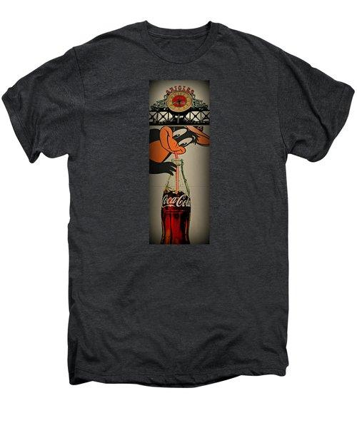 Coca Cola Orioles Sign Men's Premium T-Shirt by Stephen Stookey