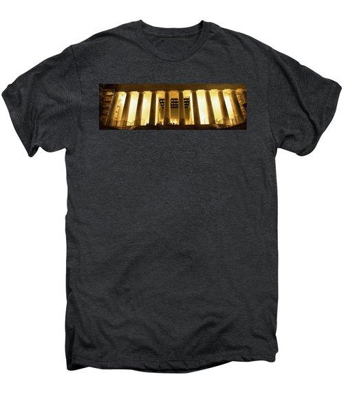 Columns Surrounding A Memorial, Lincoln Men's Premium T-Shirt by Panoramic Images