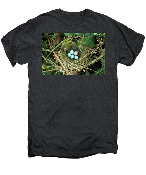 Common Cuckoo Cuculus Canorus Egg Laid Men's Premium T-Shirt by Jean Hall