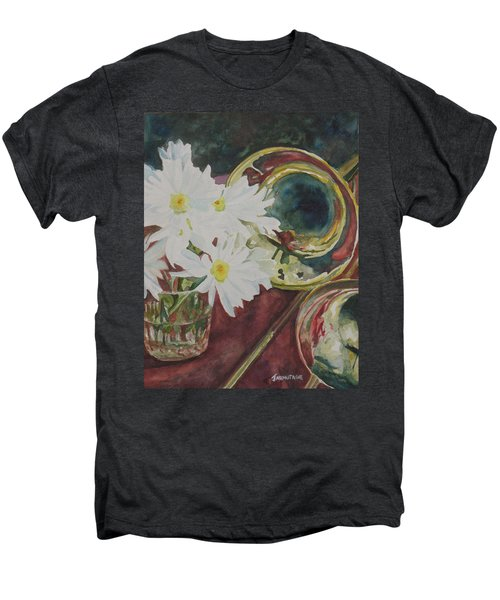 Daisies Bold As Brass Men's Premium T-Shirt by Jenny Armitage