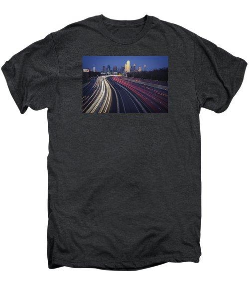 Dallas Afterglow Men's Premium T-Shirt by Rick Berk