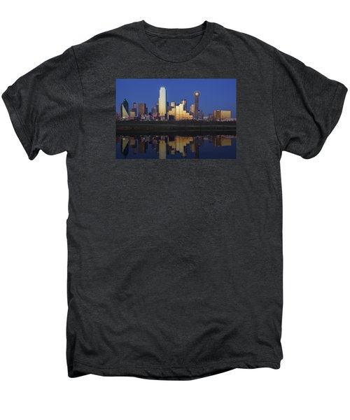 Dallas Twilight Men's Premium T-Shirt by Rick Berk