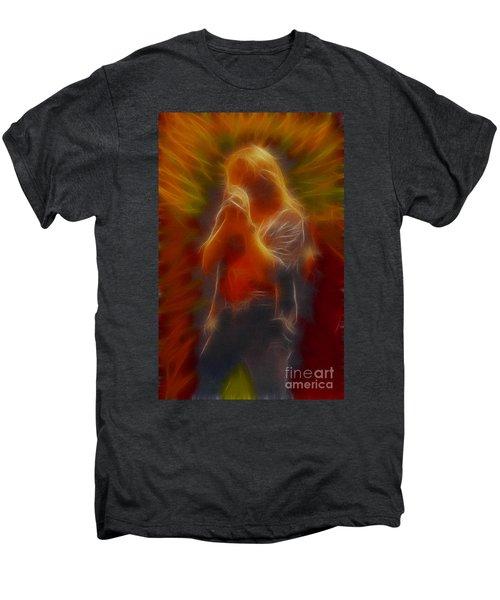 Def Leppard-adrenalize-joe-gb20-fractal Men's Premium T-Shirt by Gary Gingrich Galleries
