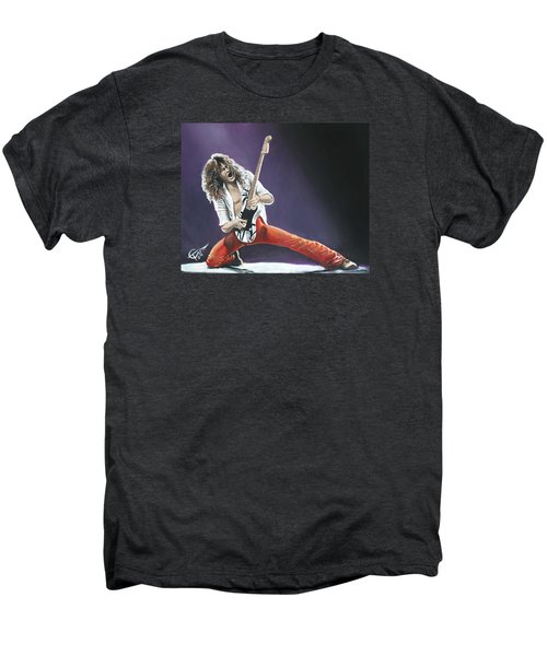 Eddie Van Halen Men's Premium T-Shirt by Tom Carlton