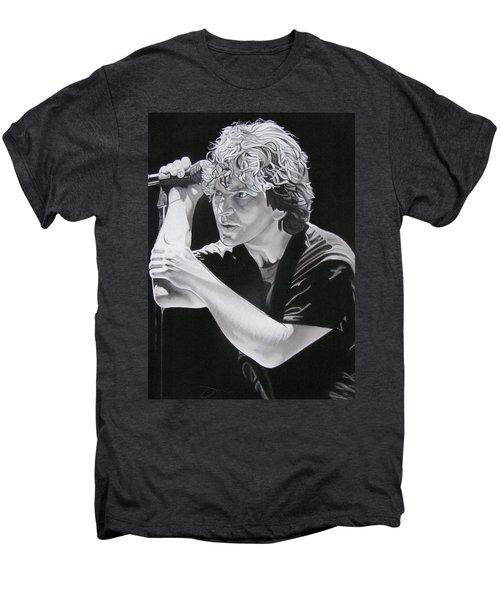 Eddie Vedder Black And White Men's Premium T-Shirt by Joshua Morton