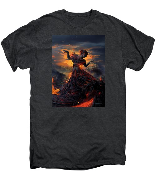 Elements - Fire Men's Premium T-Shirt by Cassiopeia Art