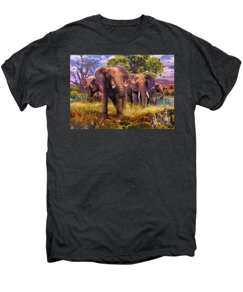 Elephants Men's Premium T-Shirt by Jan Patrik Krasny