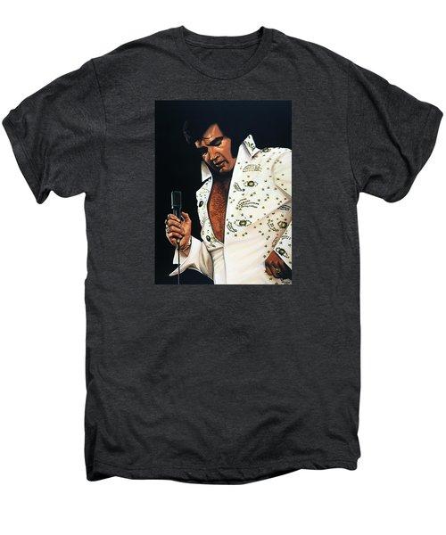 Elvis Presley Painting Men's Premium T-Shirt by Paul Meijering