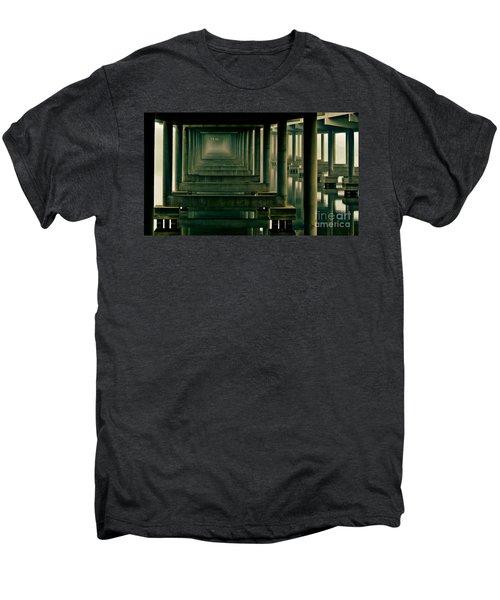 Foggy Morning Under Bridge Men's Premium T-Shirt by Robert Frederick
