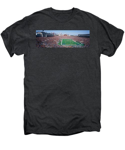 Football, Soldier Field, Chicago Men's Premium T-Shirt by Panoramic Images
