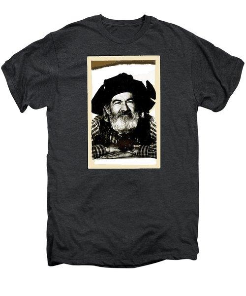 George Hayes Portrait #1 Card Men's Premium T-Shirt by David Lee Guss