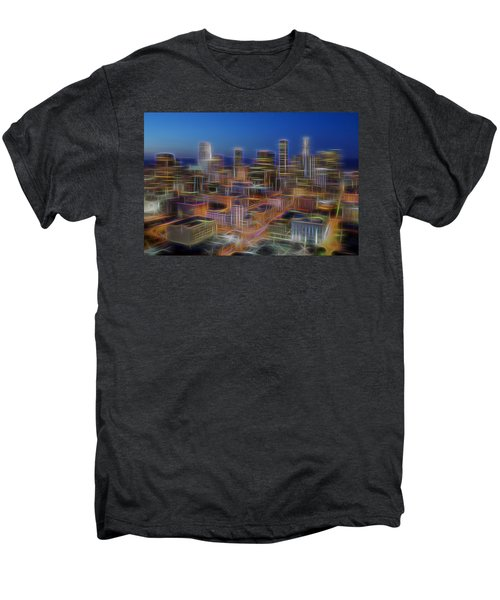 Glowing City Men's Premium T-Shirt by Kelley King