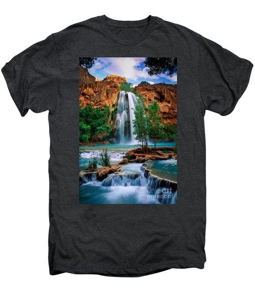 Havasu Cascades Men's Premium T-Shirt by Inge Johnsson