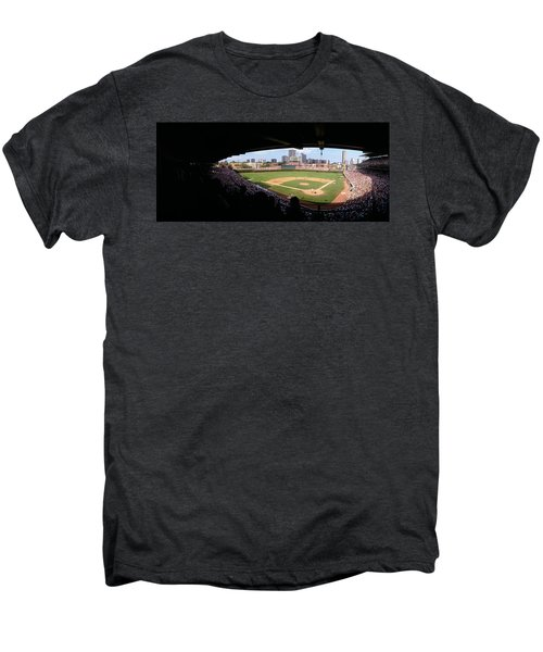 High Angle View Of A Baseball Stadium Men's Premium T-Shirt by Panoramic Images
