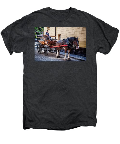 Horse And Cart Men's Premium T-Shirt by Adrian Evans