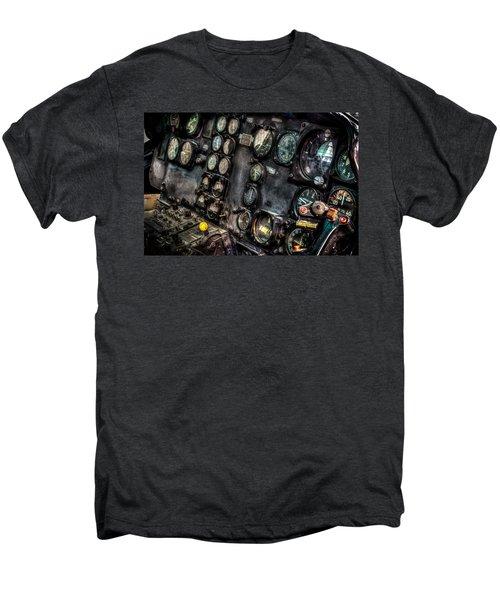 Huey Instrument Panel 2 Men's Premium T-Shirt by David Morefield