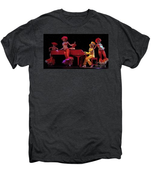 I Love Rock And Roll Music Men's Premium T-Shirt by Bob Christopher