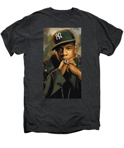 Jay-z Artwork 2 Men's Premium T-Shirt by Sheraz A